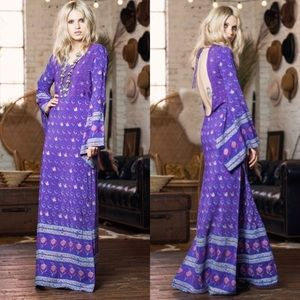 Spell✨RARE✨Purple Open Empress Maxi Dress
